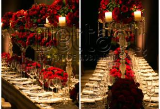mesa-de-jantar-para-casamento-com-arranjos-vermelhos