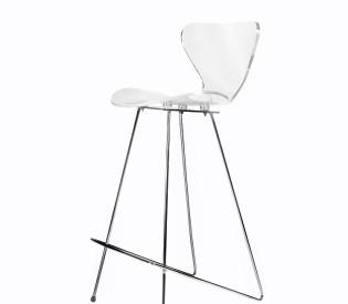Banqueta Crystal Arne Jacobsen 0,42 D x 0,70 H