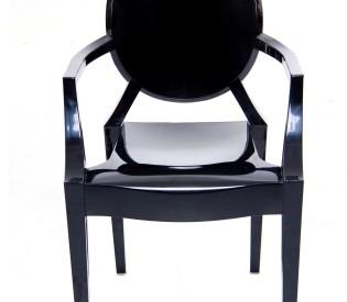 Poltrona Ghost Black 0,43CX0,55LX0,48H