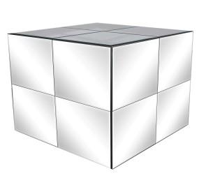 Cubo ESPELHO 1,20CX1,20LX0,95H