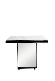 mesa bolo espelho QUADRADA COM RODIZIO 1,00CX1,00LX0,87H